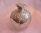 English Sterling Mounted Crystal Perfume Bottle