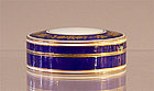 Cobalt Blue & Gold Enamel Box