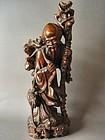 Chinese carved God of Longevity Shou Lao Figure