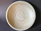 A white glazed Song - Yuan Dynasty dish