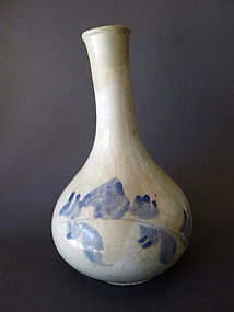 A Korean blue and white pear shaped vase