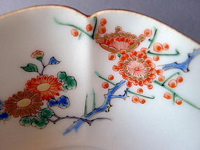 A rare pair of Japanese Kakiemon bowls