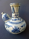 A nice Ming Dynasty Wanli period blue and white Kendi