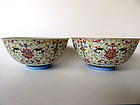 Excellent pair of Imperial Guangxu Period bowls