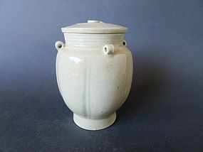 A quite rare Song Dynasty Ding-type jar with lid
