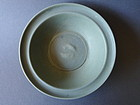 A  Song Longquan Guan type twin fish dish, very rare dark paste