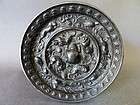 Excellent Tang Dyn. bronze mirror with lions, birds and grapes design