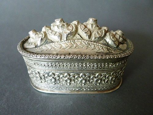 A very nice antique oriental silver box