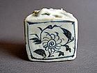 Rare Yuan Dynasty Jar of cuboid  form