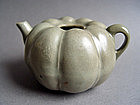 A rare Song Dynasty  Longquan Melon-shape Ewer