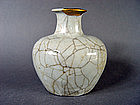 Interesting Bottle with a Guan type glaze
