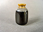 Extremely rare small Song Dynasty black Dingyao bottle