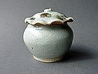 Yuan Dynasty Qingbai glazed Jar with Lotus shape  Lid
