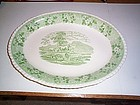 ADAMS ENGLAND ''CATTLE SCENERY'' GREEN PLATTER
