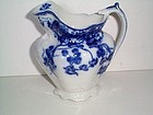 KENWORTH FLOW BLUE MILK PITCHER 5 1/2'' BY JOHNSON BROS