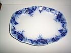 PEACH FLOW BLUE PLATTER 14'' BY 11'' JOHNSON BROS ENGLA