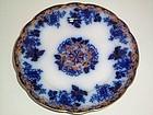 MERCER POTTERY FLOW BLUE 7'' PLATE MINT