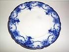 MANILA  10'' FLOW BLUE PLATE BBC CO, ENGLAND