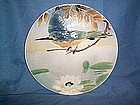 POTTERY MAJOLICA BIRD DECOR WALL PLAQUE