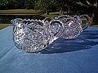 LIBBEY CUT GLASS CREAMER AND SUGAR OLD