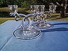 HEISEY LARIAT 2 LITE CANDLEHOLDERS CANDLESTICKS