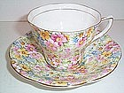 CHINTZ ROSINA CUP AND SAUCER