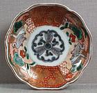 19c Japanese porcelain Imari plate GEESE marked