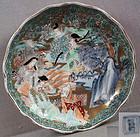 19c japanese porcelain imari plate 6 poets