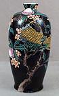 19c Kutani Japanese porcelain vase bird & peaches