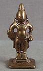 18c Indian bronze votive statue VITTHALI