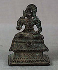 15c Indian bronze Vaishnava saint Vedanta Desika