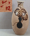 1910s Japanese ceramic tokkuri SAKE BOTTLE signed