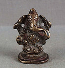 19c Indian bronze GANESHA