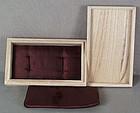 Box for pair of Menuki /fuchi-kashira with cushions