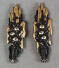 19c pair Japanese sword MENUKI IKEBANA arrangements