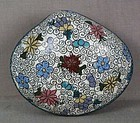 19c Japanese CLOISONNE tea ceremony KOGO clam shell