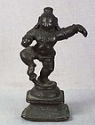 18/19c Indian bronze DANCING BABY KRISHNA