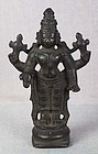 18c Indian bronze votive statue VISHNU