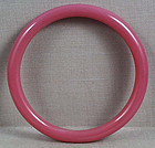 19c Chinese Peking glass pink bangle BRACELET