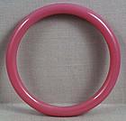 19c Chinese Peking glass pink bangle BRACELET