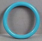 19c Chinese Peking glass sky blue bangle BRACELET