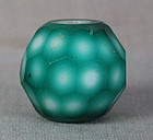 19c Peking glass FACETED BEAD