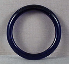 19c Chinese Peking glass deep blue bangle BRACELET