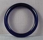 19c Chinese Peking glass deep blue bangle BRACELET