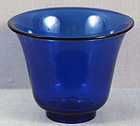 19c PEKING GLASS CUP blue color beaker