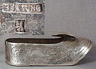 19c Chinese silver export ASHTRAY hallmarked