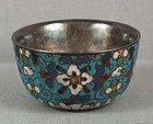 Early 19c Japanese cloisonne SAKE CUP