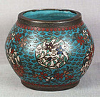 Early 19c Japanese cloisonne scholars brushwasher