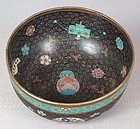 Early 19c Japanese cloisonne ALMS BOWL child toys