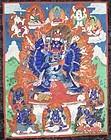 19c Tibetan thangka VAJRABHAIRAVA